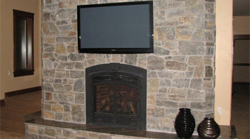 flat screen tv installation project